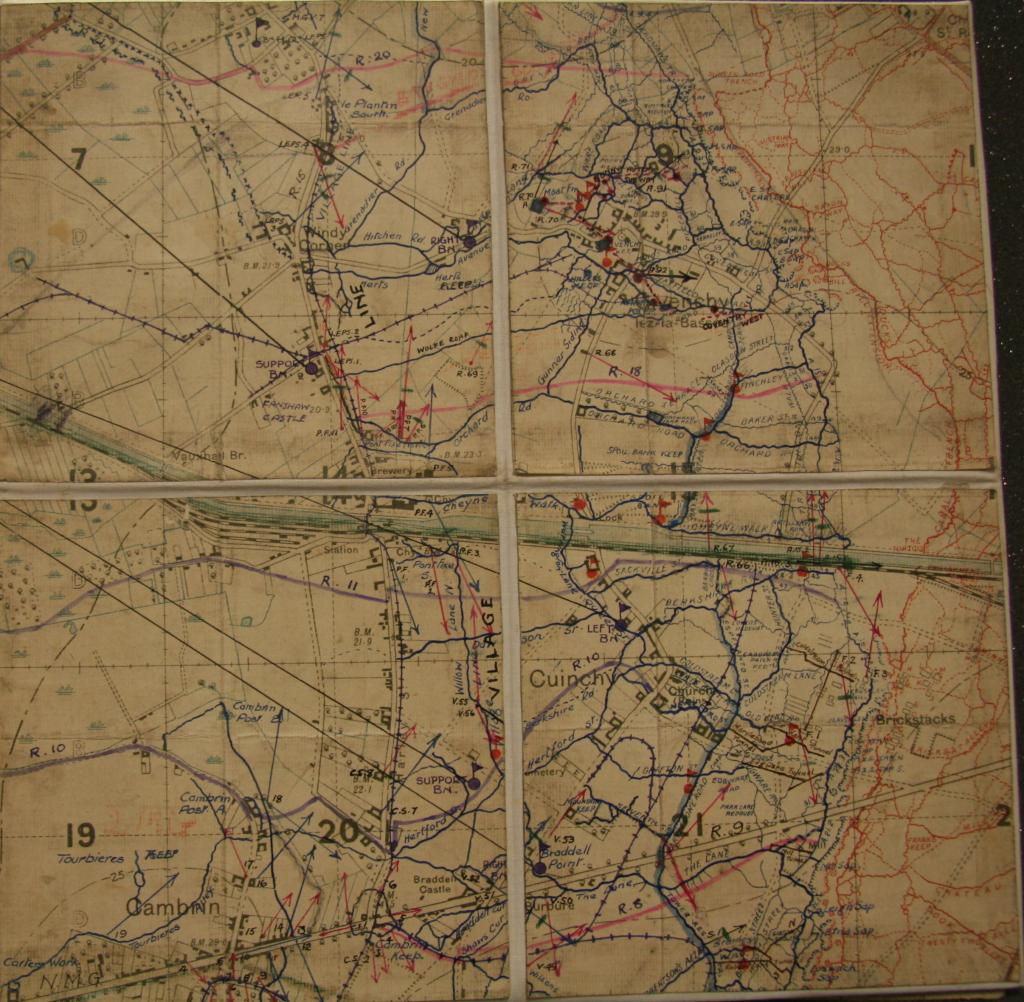 Image of a map of Cuinchy showing Pont Fixe